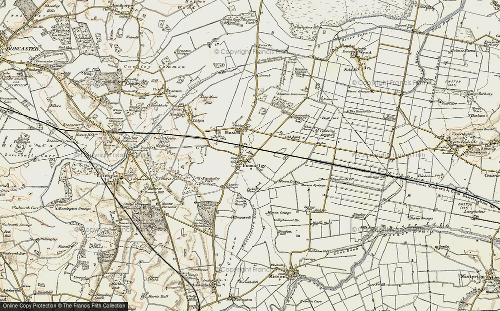 Old Map of Finningley, 1903 in 1903
