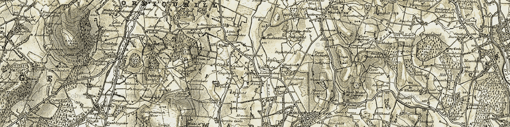 Old map of Alliehar in 1910