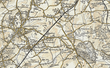 Old map of Lickey Incline in 1901-1902
