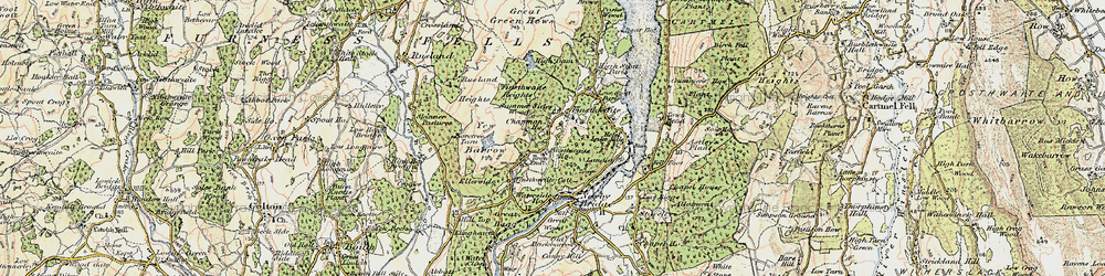 Old map of Yew Barrow in 1903-1904