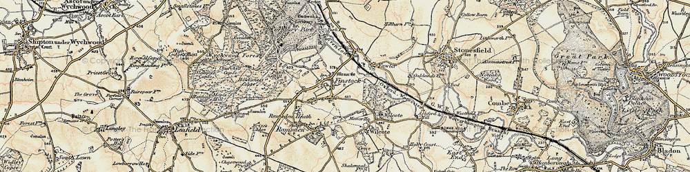 Old map of Wilcote Ho in 1898-1899