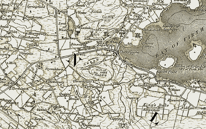 Old map of Leeon in 1911-1912