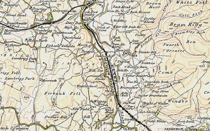 Old map of Whinny Haw in 1903-1904