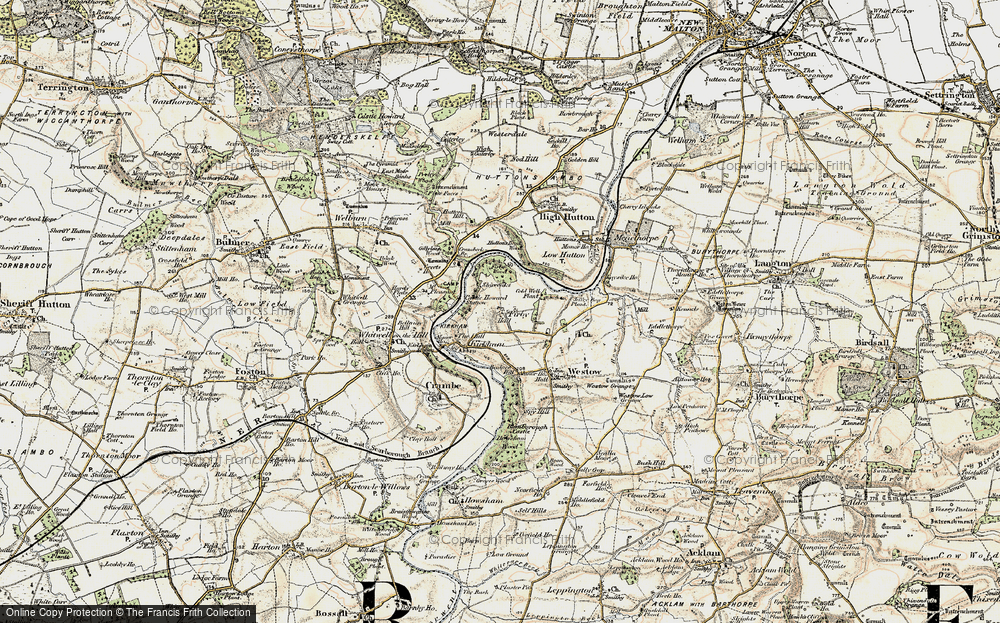 Old Map of Historic Map covering Badger Bank in 1903-1904