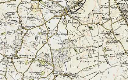 Old map of Banks Plantn in 1904