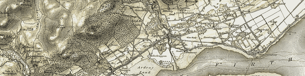 Old map of Ardroy Sand in 1911-1912