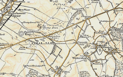 Old map of Firsdown in 1897-1898