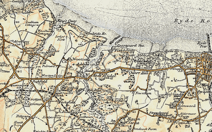 Old map of Wootton Creek in 1899