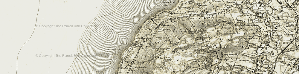 Old map of Largs in 1905-1906