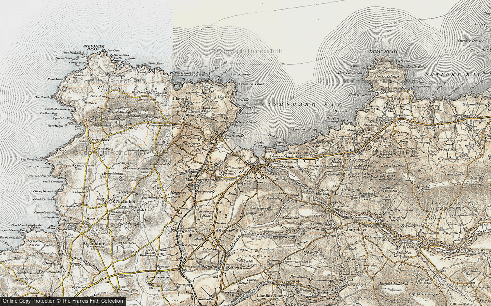 Old Map of Fishguard, 1901-1912 in 1901-1912