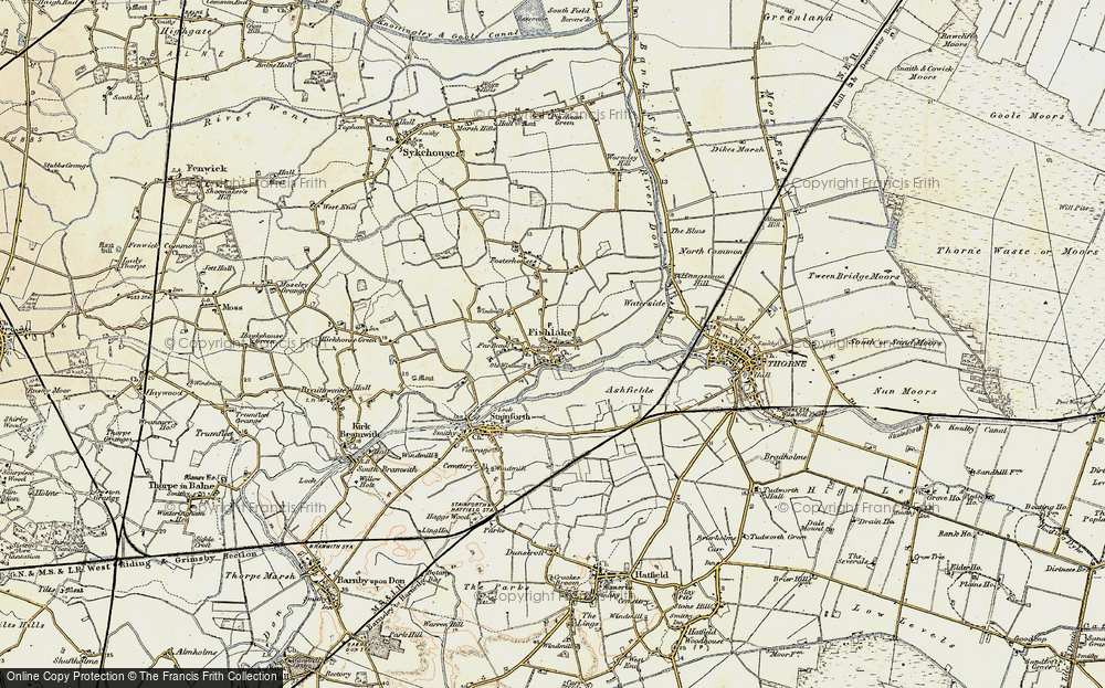 Old Map of Historic Map covering Ashfields in 1903