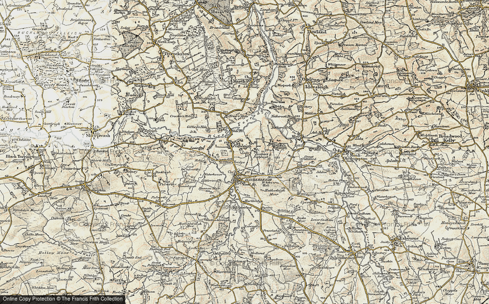 Old Map of Historic Map covering Lewer in 1899-1900