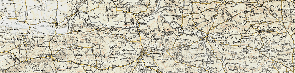 Old map of Lewer in 1899-1900