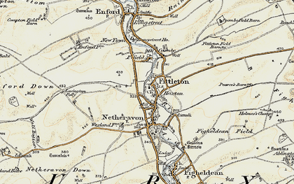 Old map of Lavington Folly in 1897-1899