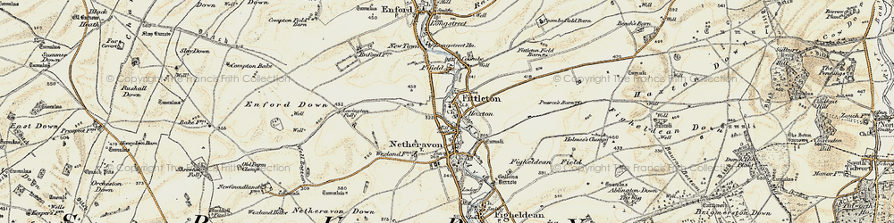 Old map of Airfield Camp Netheravon in 1897-1899