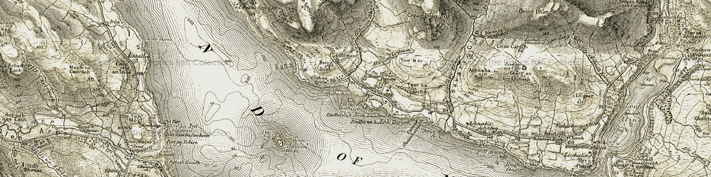 Old map of Am Brican in 1906-1908