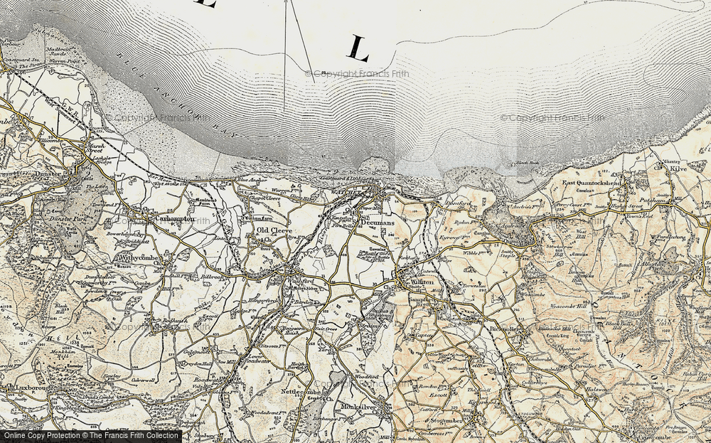 Old Map of Five Bells, 1898-1900 in 1898-1900
