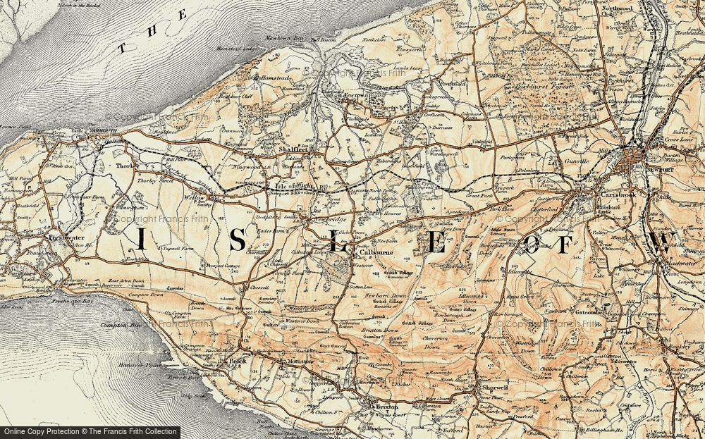Old Map of Historic Map covering Ashengrove in 1899-1909