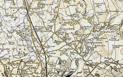 Old map of Anyon Ho in 1903-1904