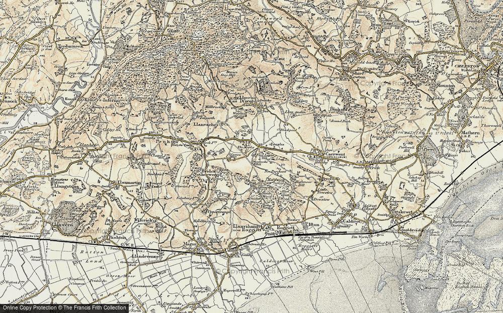 Old Map of Historic Map covering Woodcock Hill in 1899-1900