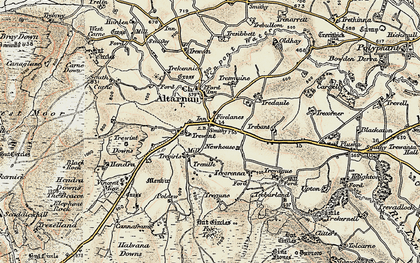 Old map of Fivelanes in 1900
