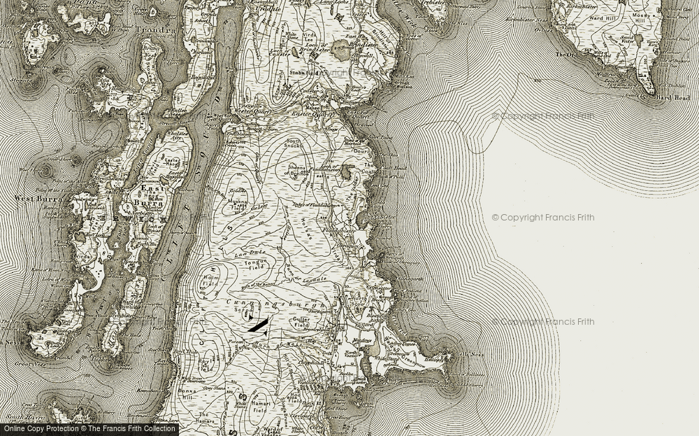 Old Map of Historic Map covering Leea Geo in 1911-1912