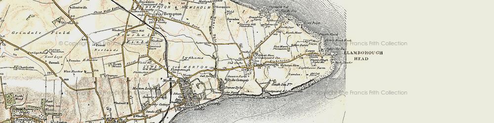 Old map of Flamborough in 1903-1904
