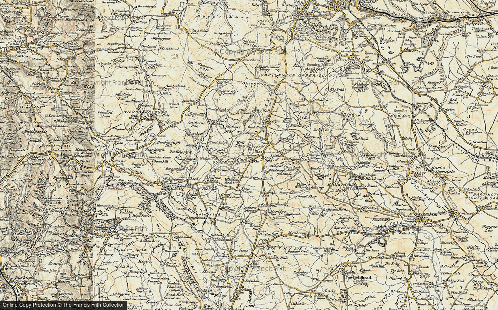 Old Map of Historic Map covering Adder's Green in 1902-1903