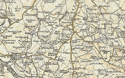 Old map of Wildstone Rock in 1902-1903