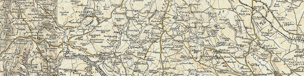 Old map of Wicken Walls in 1902-1903