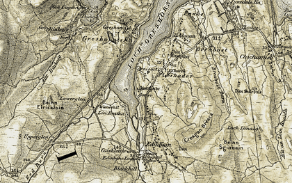Old map of Flashader in 1909