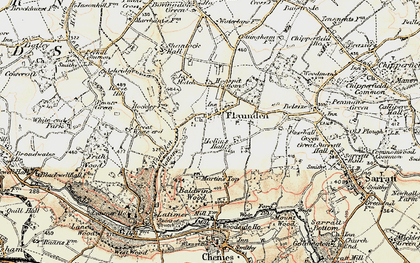 Old map of Flaunden in 1897-1898