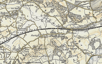 Old map of Backwell Ho in 1899