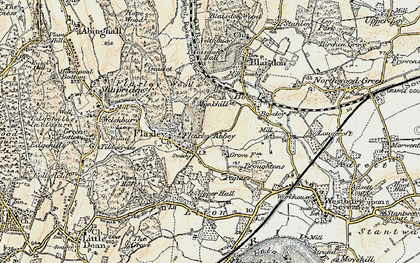Old map of Flaxley in 1899-1900
