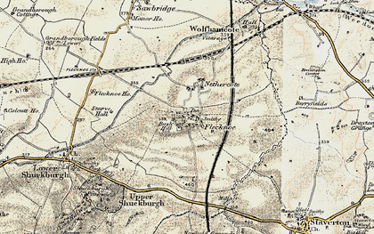 Old map of Berry Fields in 1898-1901