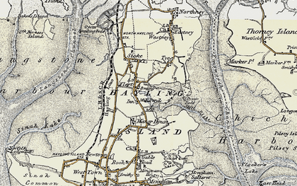 Old map of Hayling Island in 1897-1899