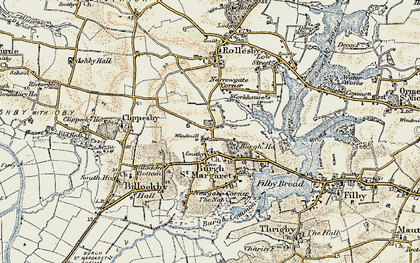 Old map of Lily Broad in 1901-1902