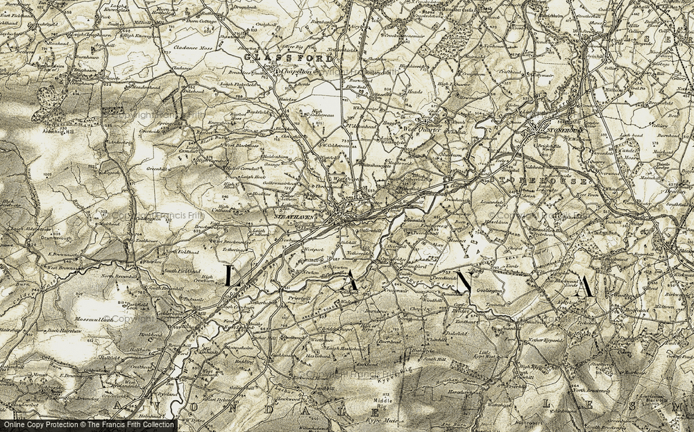 Old Map of Historic Map covering Lethame Ho in 1904-1905