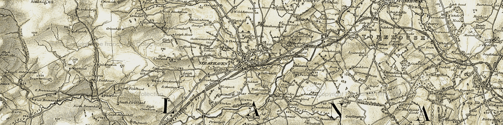 Old map of West Newton in 1904-1905