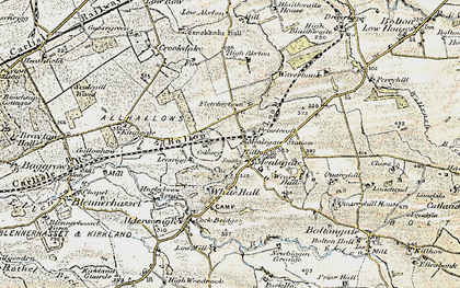 Old map of Whitehall in 1901-1904