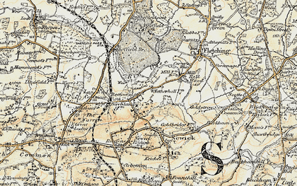 Old map of Lane End Common in 1898