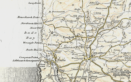 Old map of Flexbury in 1900