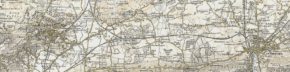 Old map of Westwood Place in 1898-1909