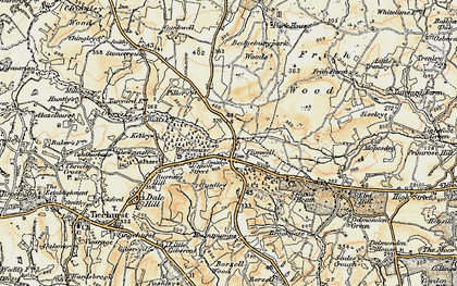 Old map of Flimwell in 1898