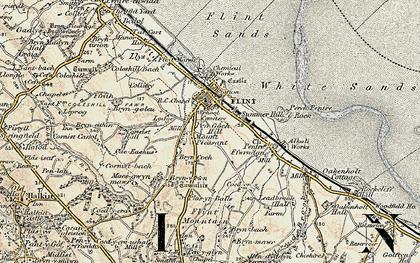 Old map of Flint in 1902-1903