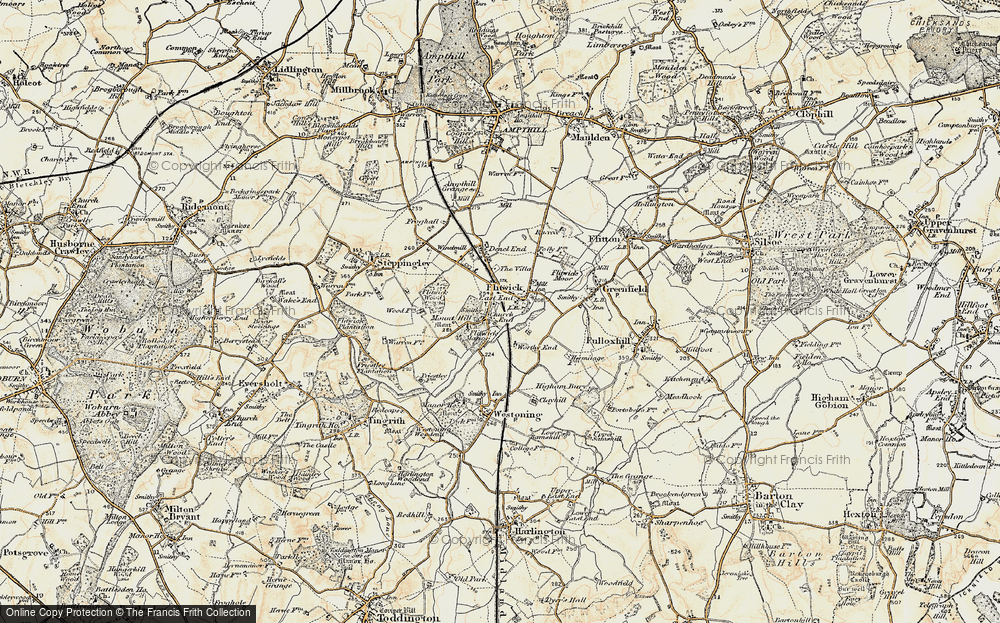 Old Map of Flitwick, 1898-1901 in 1898-1901