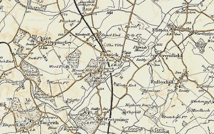 Old map of Flitwick in 1898-1901