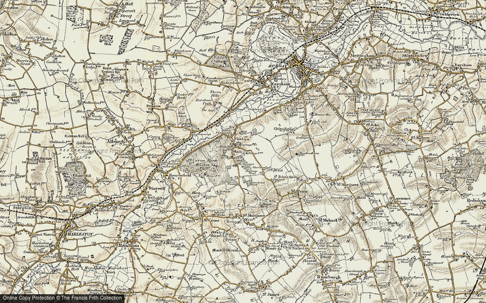 Old Map of Historic Map covering Abbey Wood in 1901-1902