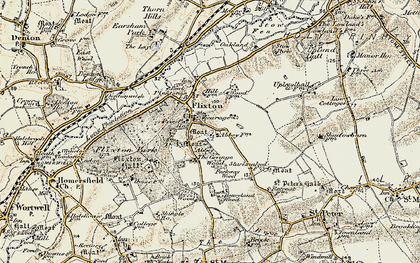 Old map of Lay, The in 1901-1902