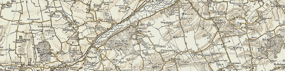 Old map of Abbey Wood in 1901-1902